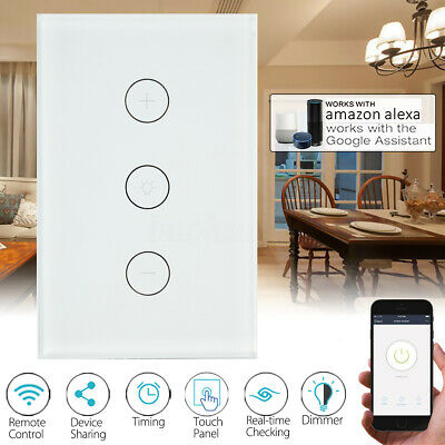 AU28.29 • Buy Smart WiFi Light Touch Switch Dimmer Wall Lamp For Google Home Alexa AU Approved