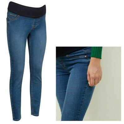 Maternity New Look Under Bump Skinny Jeggings Blue Sizes 8 - 18 • 9.99£