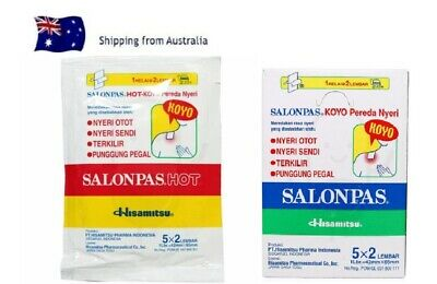 AU16.65 • Buy Salonpas Pain Patches Relief Hisamitsu Muscle Pain Relief Patch