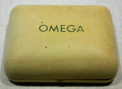 Omega Rare Vintage Watch Box Velvet Beige For Man's Watches Used Condition • 172.08£