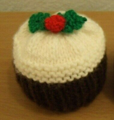 Hand Knitted Christmas Pudding Chocolate Orange Cover Also Suitable For Bathbomb • 2.99£
