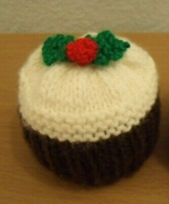 Hand Knitted Christmas Pudding Bath Bomb Or Chocolate Orange Cover   • 2.85£