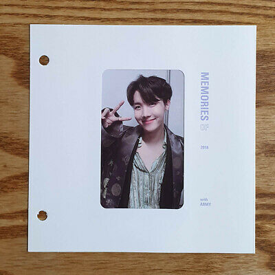 AU84.99 • Buy J Hope Official Photocard With Paper Frame BTS 2018 Memories Blu-ray Genuine