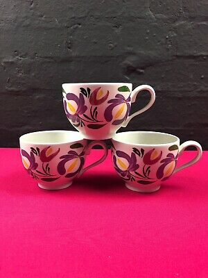 3 X Portmeirion Welsh Dresser Tea Cups New RARE Set • 16.99£