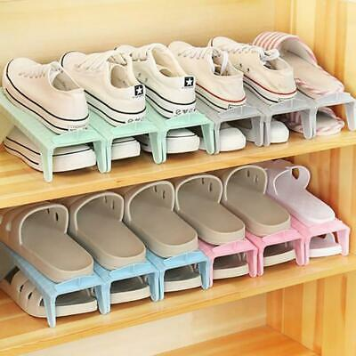AU6.36 • Buy Easy Shoes Organizers Shoes Slots Space Saver Small Rack Holder Adjustable FI