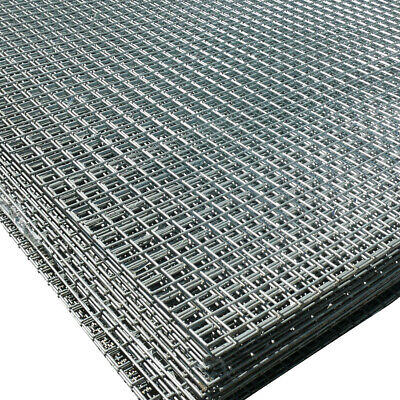5x Welded Wire Mesh Panels 1.2x2.4m Galvanised 4x8ft Steel Sheet Metal 1  Holes • 156.25£