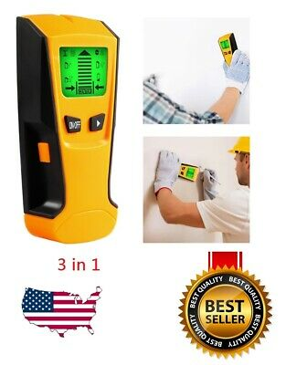 £9.27 • Buy US 3in1 LCD Stud Wood Wall Center Finder Scanner Metal AC Live Wire Detector New
