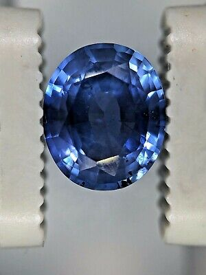 GIA Certified NO HEAT NATURAL Blue Sapphire Oval Cut Ceylon 1.87 CT  • 1,650$
