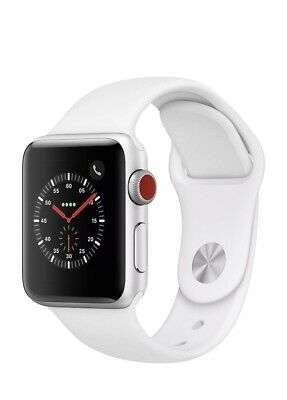 $ CDN466.45 • Buy NEW Apple Watch Series 3 (GPS + Cellular, 38mm) Aluminum Case With White Band