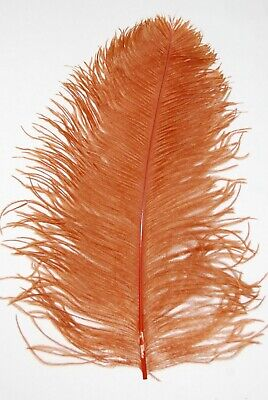 $14.99 • Buy 2 PCs OSTRICH PLUMES 8 -18  FEATHERS COLOR : TOPAZ For Hats/Bridal
