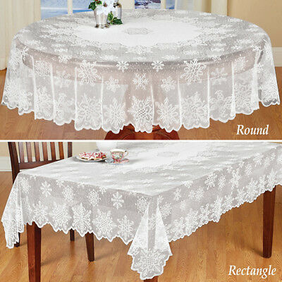 AU18.95 • Buy White Vintage Lace Dining Table Cloth Cover Floral Tablecloth Wedding Home Decor