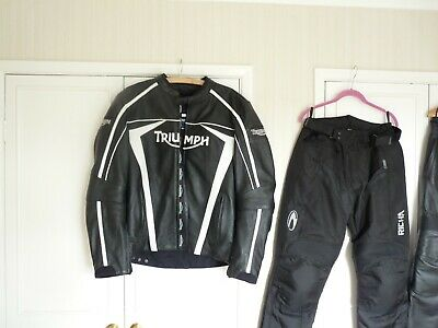 Truimph Motorcycle Leather Jacket/Trousers, Helmets Plus Extras Etc • 250£