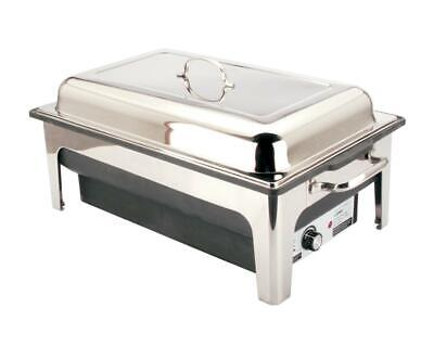 £119 • Buy 13.5ltrs Luxury Stainless Steel Electric Chafing Dish Chafer Set For Hot Buffets