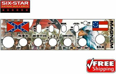 $12.95 • Buy Faceplate For Magnum S3 - Historic Image CB 10 Meter Radio Front Mic