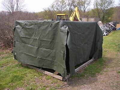 $545 • Buy Military Surplus  M105  Cargo Trailer Cover Green  Truck  Us Army 9 Ft Long Army