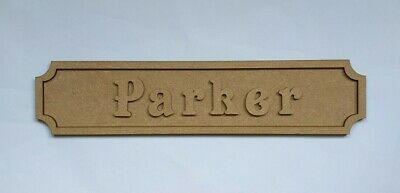 Personalised MDF Name Plaque Wooden Door Sign Personalised Wooden Blank • 4.99£