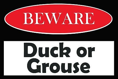 £2.49 • Buy Duck Or Grouse Warning Beware Vintage Retro Style Metal Sign, Mind Your Head