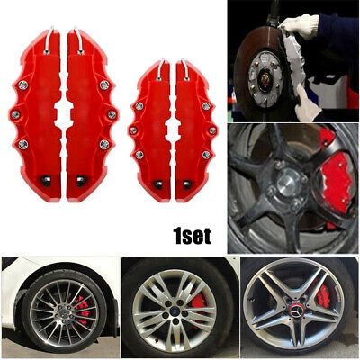 $10.89 • Buy 4PCS 3D Red Car Universal Disc Brake Caliper Covers Front & Rear Accessories Kit