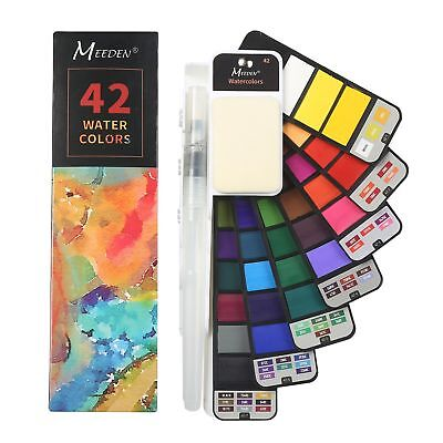 $15.19 • Buy Foldable Watercolor Paint Set – 42 Colors With 1 Watercolor Brushes Pens+ Sponge