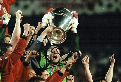 Peter SCHMEICHEL SIGNED Autograph Champions League WINNER 12x8 Photo AFTAL COA • 99.99£