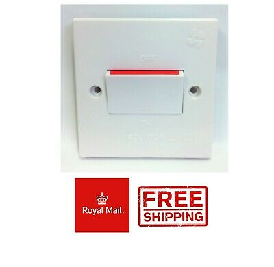 3 Pole Fan Isolator Switch 10 Amp White 10A Triple Bathroom Kitchen Extractor  • 3.99£