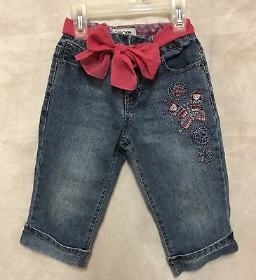 $5 • Buy Little Girl Jeans With Ribbon Belt Size 5 By Cherokee