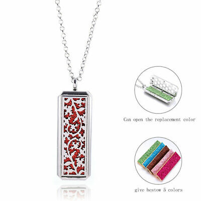 AU14.20 • Buy HQ Stainless Steel Aromatherapy Essential Oil Diffuser Locket Pendant Necklace