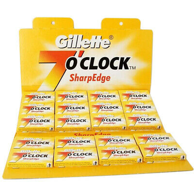 Double Edge Straight Cut Throat Barber Razor Shaving Blades Gillette 7 O'clock  • 3.95£