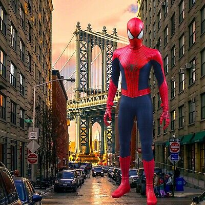 $ CDN39.70 • Buy 1/6 Spiderman Backdrop - Ideal For Hot Toys Spider Man Homecoming MMS426 MMS143
