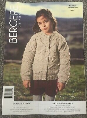 KNITTING PATTERN Girls Cabled Cardigan -  Bergere De France • 1.50£