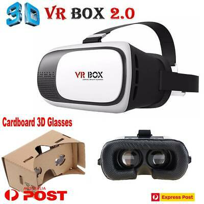 AU24.33 • Buy Virtual Reality VR Box Headset 3D Cardboard Glasses For IPhone X 8 7 Samsung 7 6