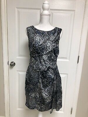 $12 • Buy MM Coutoure By Miss Me Gray/blue Ruched Sheath Dress Size M