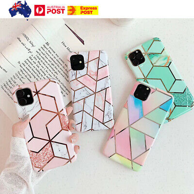 AU8.65 • Buy  Case For IPhone 11 12 XR XS MAX SE 8 7 ShockProof Marble Phone Cover Silicone
