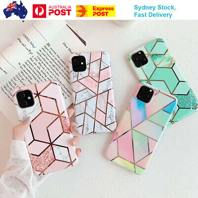 AU8.65 • Buy For IPhone 11 12 XS Max XR SE 8 Case Marble Shockproof Silicone Gel Phone Cover