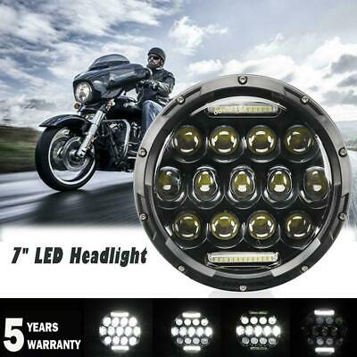 AU40.81 • Buy DOT 7  Inch Round LED Headlight DRL High Low For Harley Yamaha V-Star Waterproof