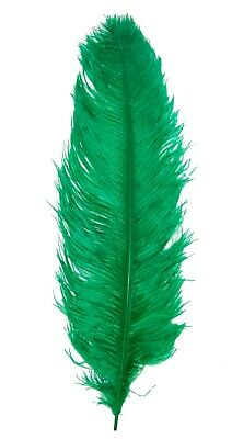 $14.99 • Buy 1 KELLY GREEN Ostrich FEATHER 23-28  Full Wing PLUMES; Bridal/Wedding/center