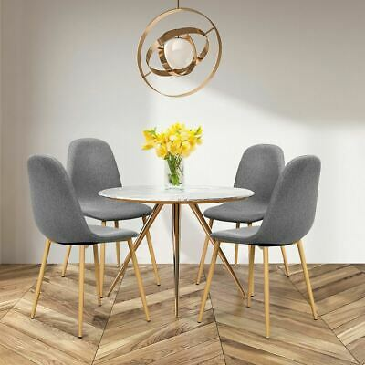 $209.94 • Buy Modern Set Of 4 Gray Accent Fabric Dining Table Chairs