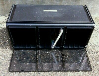 Cambra Perspex Cameo Range Black CD Storage Box. Holds Up To 24 CDs.  • 15£