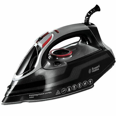 View Details Russell Hobbs PowerSteam Ultra Vertical Steam Iron 3100W Ceramic - Black, 20630 • 24.99£