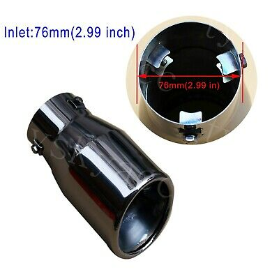 $ CDN37.84 • Buy Universal Car Round Exhaust Rear Tail Muffler Tip Pipe Fit 51mm-68mm Inlet Parts