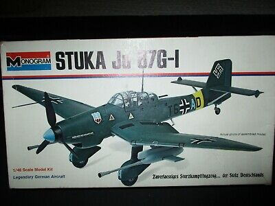 $14.99 • Buy Vintage/Monogram/1/48/Scale/ Unbuilt/Airplane(Stuka/Ju/87G-1/German)1973