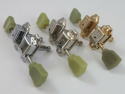 $ CDN25.88 • Buy VINTAGE MACHINE HEADS 3 A-side TUNERS For Gibson Style Guitars 3 Colours