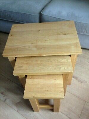 Solid Pine Nest Of Tables • 60£