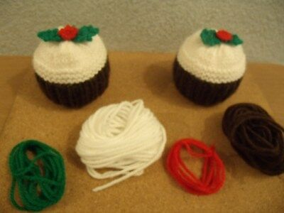 Chocolate Orange Cover Christmas Pudding  Knitting Pattern + WOOL FOR  2 COVERS • 3.50£