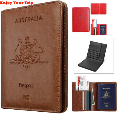 AU8.61 • Buy Rfid Blocking Passport Holder For Travel Accessories Passport Purse Card Wallet