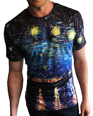 £19.99 • Buy Van Gogh's 'Starry Night Over The Rhone' All-Over Print T-Shirt
