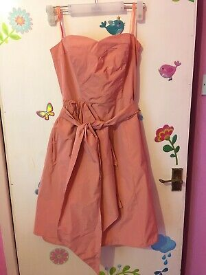 New John Rocha Dress Size 12 Peach Colour / Special Occasion • 10£