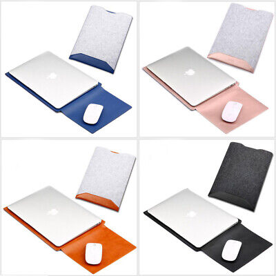 $14.79 • Buy Soft Laptop Wool Felt Sleeve Case Bag W/ Mouse Pad For MacBook Air Pro 11 13 15