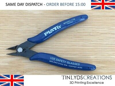 PLATO Model 170 Flush Wire Shears Cutters Snips Trimmers Soldering Electronics  • 6.25£