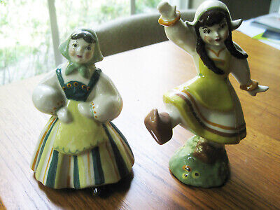 $10.50 • Buy 2 Ceramic Arts Studio Girls Katrinka & Pepita Madison Wisconsin Pottery Figurine
